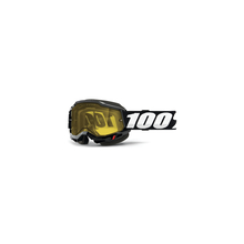 Accuri 2 Snowmobile Goggle Black - Yellow Vented Dual Lens by 100percent Brand
