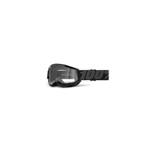 Strata 2 Youth Goggle Black - Clear Lens by 100percent Brand