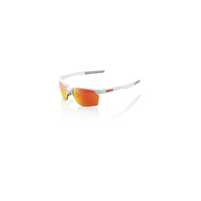 Sportcoupe - Soft Tact White - Hiper Red Multilayer Mirror Lens by 100percent Brand