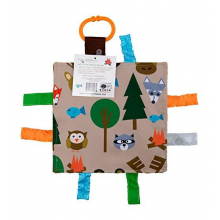 Forest Animal Fidget Tag Square Baby Jack