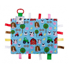 Farm Animal Fidget Tag Comfort Learning Lovey Baby Jack by Baby Jack in Squamish BC