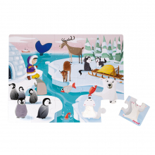 """Tactile Puzzle """"Life On The Ice"""" - 20 Pcs by Janod in Chelan WA"""