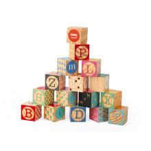 Kubix - 16 Carved Alphabet Blocks by Janod in Marshfield WI