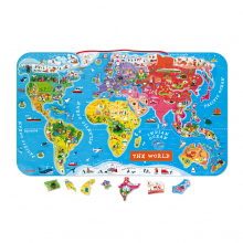 Magnetic World Puzzle English Version by Janod in Marshfield WI