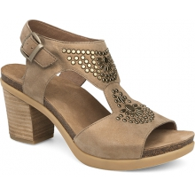 Women's Deandra Taupe Shimmer Suede