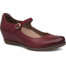 Women's Loralie Red Burnished Nubuck by Dansko