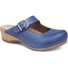 Women's Martina Blue Burnished Nappa by Dansko