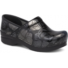 Women's Professional Pewter Floral Patent by Dansko