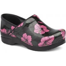 Women's Professional Pink Hibiscus Patent by Dansko