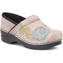 Women's Embroidered Pro Taupe Milled Nubuck by Dansko