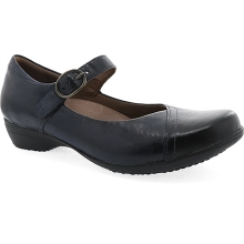 Women's Fawna Navy Burnished Calf by Dansko in St Joseph MO