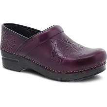 Embossed Pro Wine Burnished Calf by Dansko