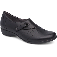 Franny Wide Black Milled Nappa by Dansko in Centerville IA