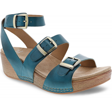 Lou Turquoise Burnished Calf by Dansko in Pueblo Co