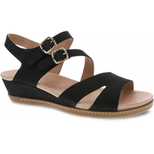 Angela Black Milled Nubuck by Dansko