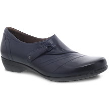 Franny Navy Burnished Calf by Dansko