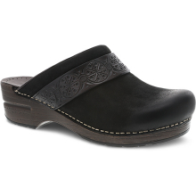 Saundra Black Burnished Nubuck by Dansko