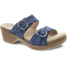 Sophie Blue Metallic Suede by Dansko