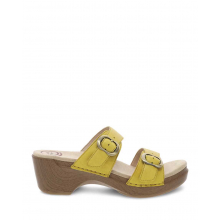 Sophie Yellow Burnished Milled by Dansko