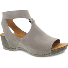 Taylin Taupe Burnished Suede