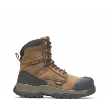 """Men's Footrests High Energy Waterproof Metatarsal Guard Composite Toe 8"""" Work Boot by HYTEST"""