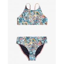 Girl's Marine Bloom Crop Top Set Halter Bra/Pant Two Piece
