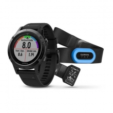 Garmin Black fēnix 5 Sapphire with Black Band, Performer Bundle