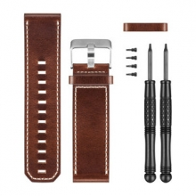 Brown Leather Watch Band by Garmin