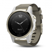 Garmin Champagne fēnix 5S Sapphire with Gray Suede Band by Garmin in Sherwood Park Ab