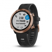 Garmin Forerunner 645 Music, Black with Rose Gold Hardware by Garmin in Branford Ct