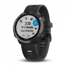 Garmin Forerunner 645 Music, Black with Slate Hardware by Garmin in Wilton Ct