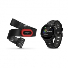 Garmin Forerunner 735XT, North America, Black/Gray Run Bundle by Garmin in Red Deer Ab