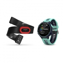 Garmin Forerunner 735XT, North America, Midnight Blue/Frost Blue Run Bundle by Garmin in Red Deer Ab