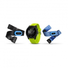 Garmin Forerunner 935, Tri-bundle (Black with Yellow Straps) by Garmin in El Dorado Hills Ca