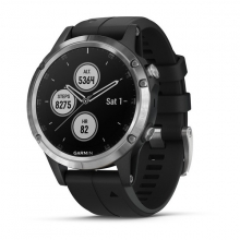Garmin fēnix 5 Plus, Silver with Black Band by Garmin in El Dorado Hills Ca