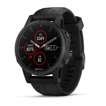 Garmin fenix 5S Plus Sapphire, Black with Black Band by Garmin in Carlsbad CA