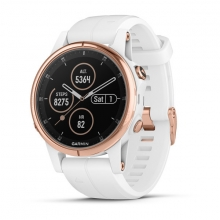Garmin fenix 5S Plus Sapphire, Rose Gold-tone with Carrara White Band by Garmin in El Dorado Hills Ca