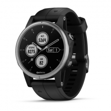 Garmin fēnix 5S Plus, Silver with Black Band by Garmin in Folsom Ca