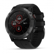 Garmin fēnix 5X Plus Sapphire, Black with Black Band by Garmin in Greenwood Village Co