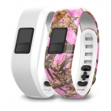 Garmin Pink Camo and White Bands by Garmin