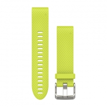 Garmin QuickFit® 20 Watch Bands, Amp Yellow Silicone by Garmin in Campbell Ca