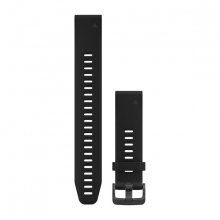 Garmin QuickFit® 20 Watch Bands, Black Silicone (Large) by Garmin in Prince George Bc