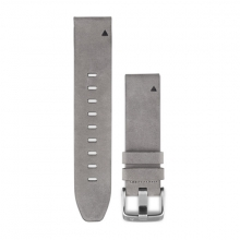 Garmin QuickFit® 20 Watch Bands, Gray Suede Leather by Garmin in Penticton Bc
