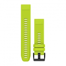 Garmin QuickFit® 22 Watch Bands, Amp Yellow Silicone by Garmin in Langley Bc