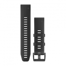 Garmin QuickFit® 22 Watch Bands, Black/Black Silicone by Garmin in Duncan Bc