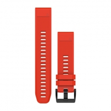 Garmin QuickFit® 22 Watch Bands, Flame Red Silicone by Garmin in Tempe Az