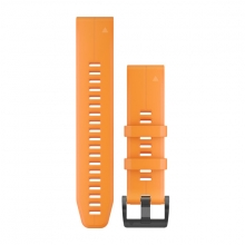 Garmin QuickFit® 22 Watch Bands, Solar Flare Orange Silicone by Garmin in Garmisch Partenkirchen Bayern