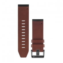 Garmin QuickFit® 26 Watch Bands, Brown Leather by Garmin in Venice Ca