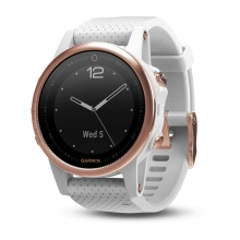 Garmin Rose Goldtone fēnix® 5S Sapphire with White Band