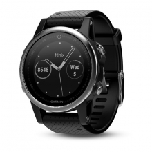 Garmin Silver fēnix® 5S with Black Band by Garmin in North Vancouver Bc